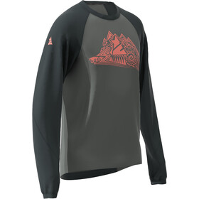Zimtstern PureFlowz LS Shirt Men pirate black/gun metal/living coral